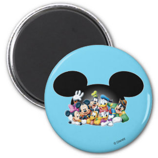 Mickey & Friends | Group in Mickey Ears Magnet