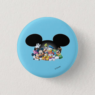 Mickey & Friends | Group in Mickey Ears Pinback Button