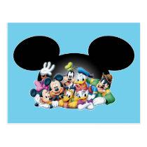 Mickey & Friends | Group in Mickey Ears Postcard
