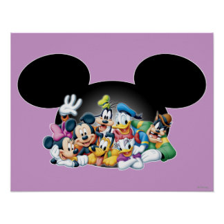 Mickey & Friends | Group in Mickey Ears Poster