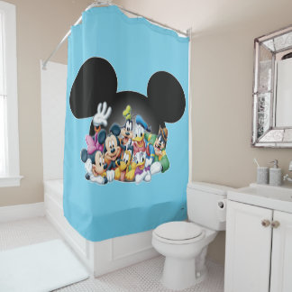 Mickey & Friends | Group in Mickey Ears Shower Curtain