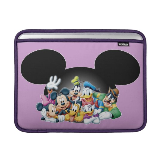 Mickey & Friends | Group in Mickey Ears Sleeve For MacBook Air