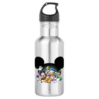 Mickey & Friends | Group in Mickey Ears Stainless Steel Water Bottle