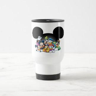 Mickey & Friends   Group in Mickey Ears Travel Mug