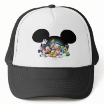 Mickey & Friends | Group in Mickey Ears Trucker Hat