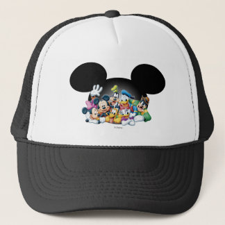 Mickey & Friends   Group in Mickey Ears Trucker Hat