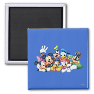 Mickey & Friends | Kneeling 2 Inch Square Magnet
