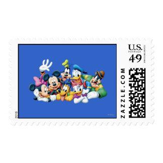 Mickey & Friends | Kneeling Postage Stamp