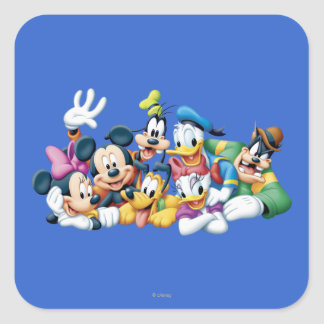 Mickey & Friends | Kneeling Square Sticker