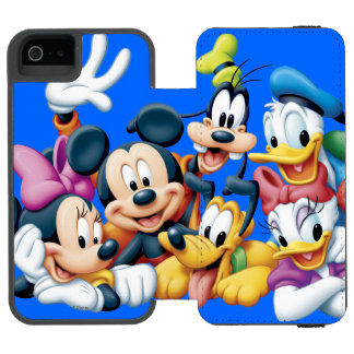Mickey & Friends | Kneeling Wallet Case For iPhone SE/5/5s