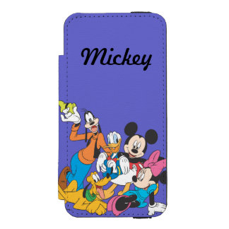 Mickey & Friends | Leaning iPhone SE/5/5s Wallet Case