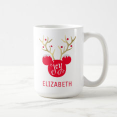 Mickey & Friends | Mickey Christmas Joy Coffee Mug at Zazzle