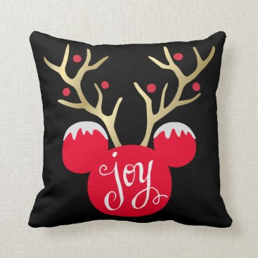 Christmas Themed Mickey & Friends | Mickey Christmas Joy Throw Pillow