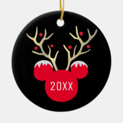 Circle Ornament with Disney Christmas Ornaments design