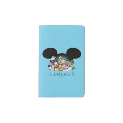 Mickey & Friends | Mickey Ears - Add Your Name Pocket Moleskine Notebook