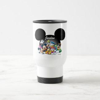 Mickey & Friends   Mickey Ears - Add Your Name Travel Mug