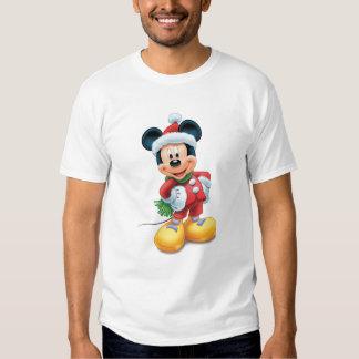 Mickey & Friends Mickey in Santa Hat Tee Shirt