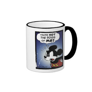 Mickey & Friends Mickey You're Not the Boss of ME Ringer Coffee Mug