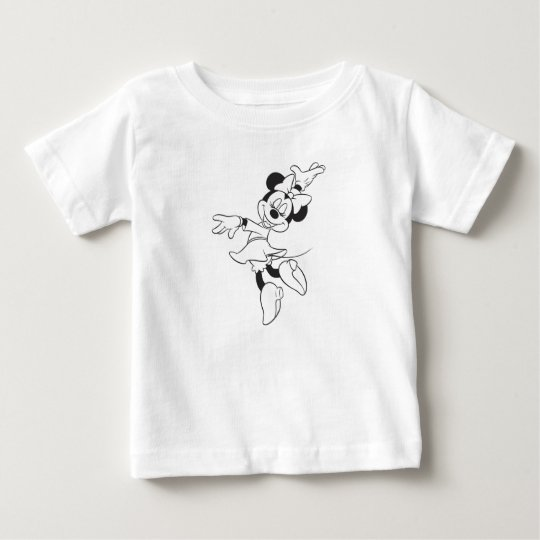 Mickey & Friends Minnie Dancing (black and white) Baby T-Shirt