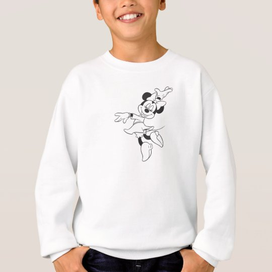 Mickey & Friends Minnie Dancing (black and white) Sweatshirt