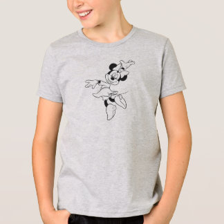 Mickey & Friends Minnie Dancing (black and white) T-Shirt