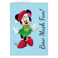 Greeting Card with Disney Christmas Ornaments design