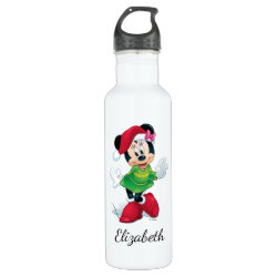 Water Bottle (24 oz) with Disney Christmas Ornaments design