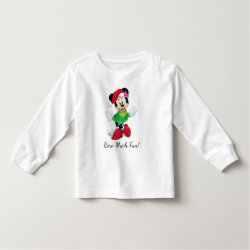 Toddler Long Sleeve T-Shirt with Disney Christmas Ornaments design