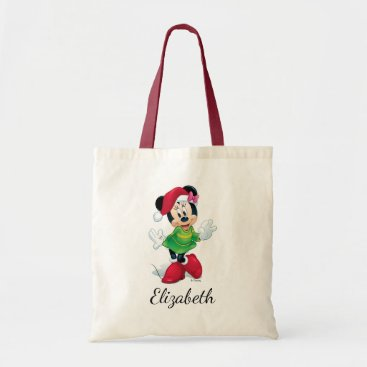 Christmas Themed Mickey & Friends | Minnie Dressed For Christmas Tote Bag