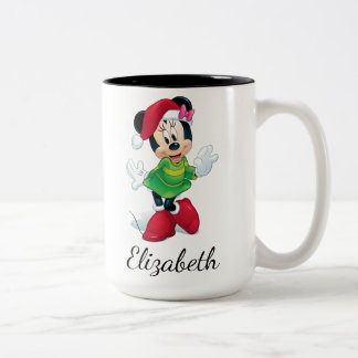 Mickey & Friends | Minnie Dressed For Christmas Two-Tone Coffee Mug