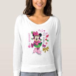 Women's Bella+Canvas Flowy Off Shoulder Shirt with Disney Christmas Ornaments design