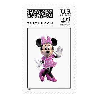 Mickey & Friends Minnie in Pink Polka Dots Stamps