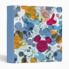 Mickey & Friends | Mouse Head Sketch Pattern 3 Ring Binder