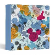 Mickey & Friends | Mouse Head Sketch Pattern 3 Ring Binder