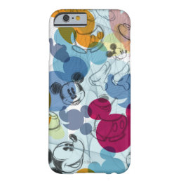 Mickey & Friends | Mouse Head Sketch Pattern Barely There iPhone 6 Case