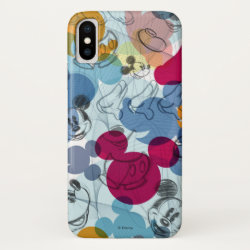 Case-Mate Barely There Apple iPhone XS Case with Mickey Mouse Patterns design