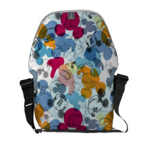 Mickey & Friends | Mouse Head Sketch Pattern Courier Bag