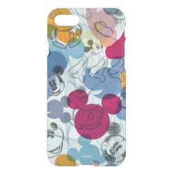 Uncommon iPhone 7 Clearly™ Deflector Case with Mickey Mouse Patterns design