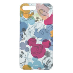 Uncommon iPhone 7 Plus Clearly™ Deflector Case with Mickey Mouse Patterns design