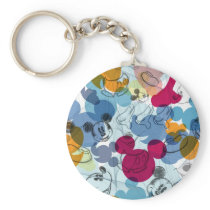 Mickey & Friends | Mouse Head Sketch Pattern Keychain