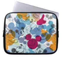 Mickey & Friends | Mouse Head Sketch Pattern Laptop Sleeve
