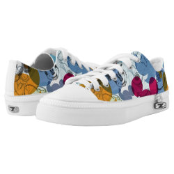 Low Top Shoes with Mickey Mouse Patterns design