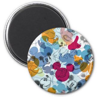 Mickey & Friends | Mouse Head Sketch Pattern Magnet