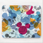 "Mickey &amp; Friends | Mouse Head Sketch Pattern Mouse Pad<br><div class=""desc"">Mickey Mouse</div>"