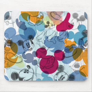 Mickey & Friends | Mouse Head Sketch Pattern Mouse Pad