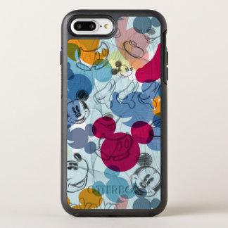 Mickey & Friends | Mouse Head Sketch Pattern OtterBox Symmetry iPhone 7 Plus Case