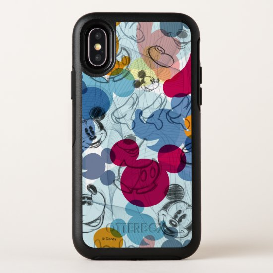 Mickey & Friends | Mouse Head Sketch Pattern OtterBox Symmetry iPhone X Case