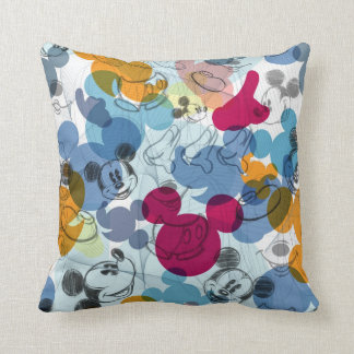 Mickey & Friends | Mouse Head Sketch Pattern Throw Pillow