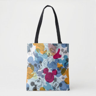 Mickey & Friends | Mouse Head Sketch Pattern Tote Bag