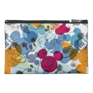 Mickey & Friends | Mouse Head Sketch Pattern Travel Accessory Bag